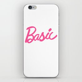 Basic Pink Girlie Doll Typography iPhone Skin