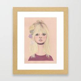 BB flowers Framed Art Print