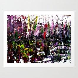 Reflejos en el agua Art Print