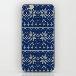 Knitted Scandinavian pattern 2 iPhone Skin