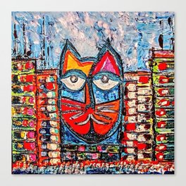 City Cat Canvas Print