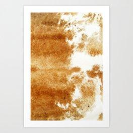 Golden Brown Cow Hide Kunstdrucke