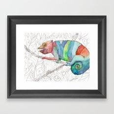 Chameleon Fail Framed Art Print