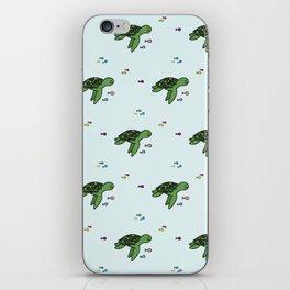 Swimming turtle iPhone Skin