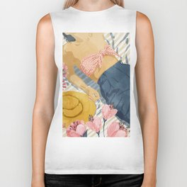 Beach Vacay #society6 #travel #illustration Biker Tank