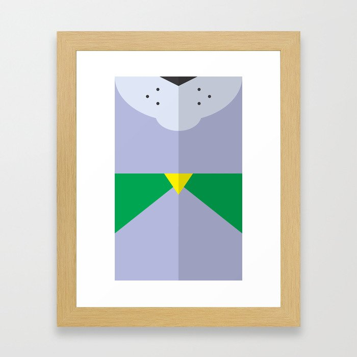 """Belts of Justice: Mascot Series """"The Dog"""" Framed Art Print"""