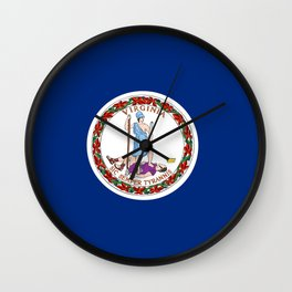 flag virginia,america,usa,south,Dominion,Mother of Presidents,Mother of States,Pocahontas Wall Clock