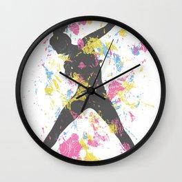 Hip Hop Dancer Wall Clock