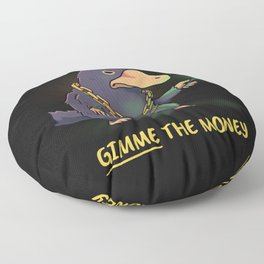 Gangsta Beast // Funny Niffler, Fantastic Beasts Floor Pillow