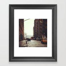 Rainy Day NYC Framed Art Print