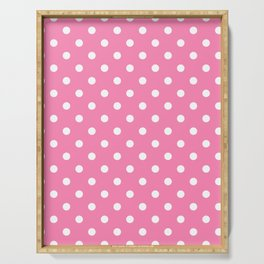 Pink & White Polka Dots Serving Tray