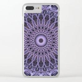 Plum tones mandala Clear iPhone Case