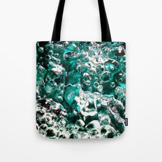 Turquoise Bubbles Photograph Macro photo Tote Bag