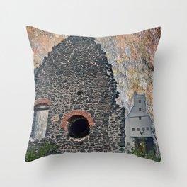 Quincy Mine Ruins Art Throw Pillow