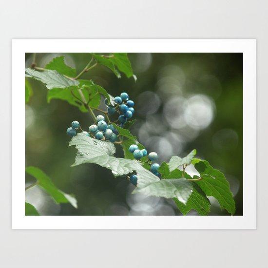 bleu Art Print