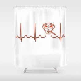 Plastic Surgeon Heartbeat Shower Curtain