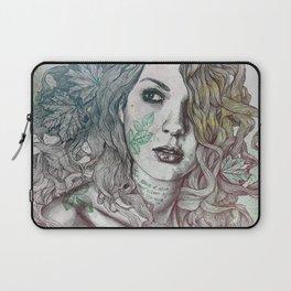 Wake: Summer | maple leaves tattoo woman portrait Laptop Sleeve