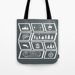 Camping [Reversed] Tote Bag