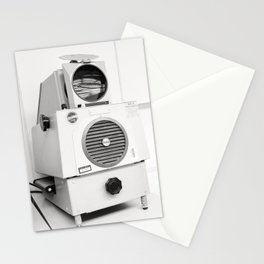 retro opaque projector - black and white Stationery Cards
