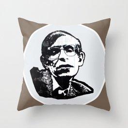 Stephen Hawking Throw Pillow