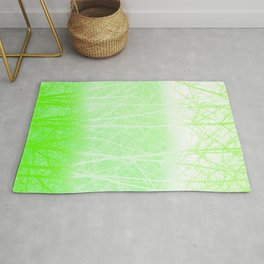 Frosted Winter Branches in Lime Green Rug