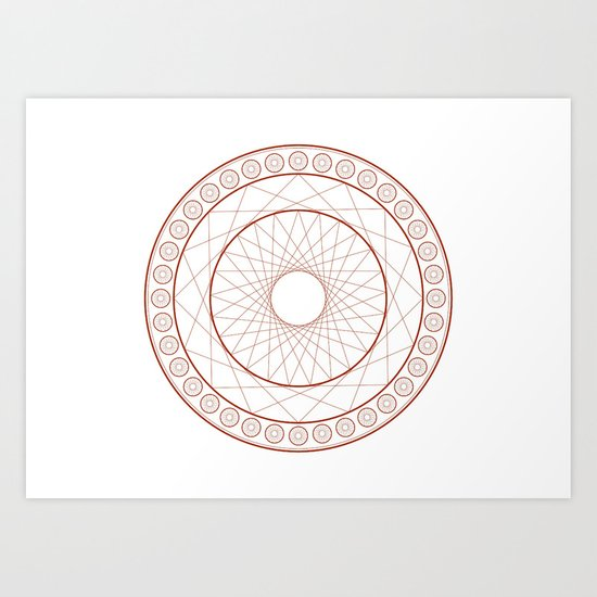 Anime Magic Circle 3 Art Print