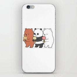 Baby Bears Eating Some Ice Cream iPhone Skin