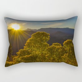 Sunset over the meadow Rectangular Pillow