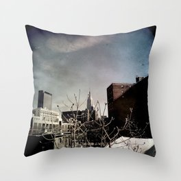 Winter Chill in the City Throw Pillow