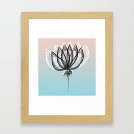Geometric Flower 2 Framed Art Print
