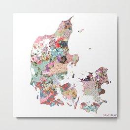 Danemark map Metal Print