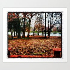Orange Fall Day Art Print