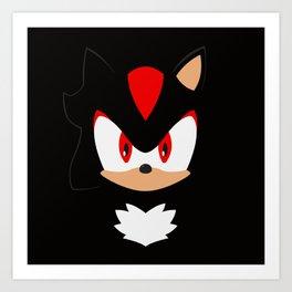 Shadow the Hedgehog Art Print