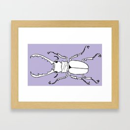 It's a stag beetle, I have no clever name for this.. Framed Art Print
