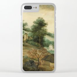 Jacob Grimmer - Landscape With Cottages Clear iPhone Case