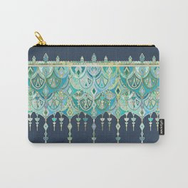 Art Deco Double Drop in Blues and Greens Carry-All Pouch