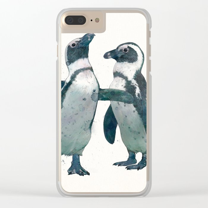 penguin party Clear iPhone Case