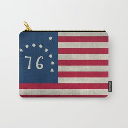 American Bennington flag - Vintage Stone Textured Carry-All Pouch