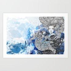 goldie's friend Art Print