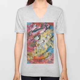 Abstract painting pattern Unisex V-Neck