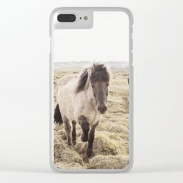 Horse Photograph in Color Clear iPhone Case