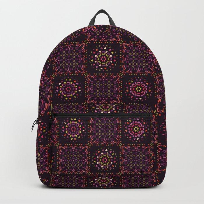 Quilt Patchwork Tile Pattern Backpack