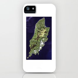 Isle of Man Aerial View iPhone Case