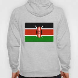 National flag of Kenya - Authentic version, to scale and color Hoody