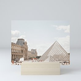 The Louvre under the Parisian summer sun   Paris France travel photography   wall art to inspire   Saige Ashton Prints  Mini Art Print