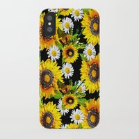 sunflowers iPhone & iPod Cases featuring Sunflowers by Saundra Myles