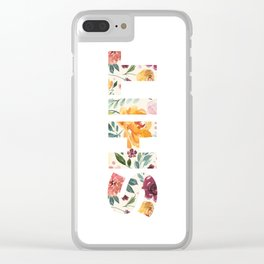 Flowery Language: SHIT Clear iPhone Case
