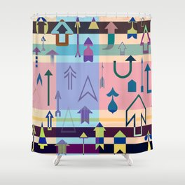 Up....Keep going! Shower Curtain