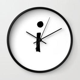 I Monogram (Hand 2) Wall Clock