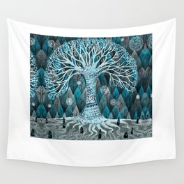 The Moon Tree Wall Tapestry